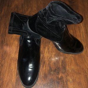 Black velvet sock Boots